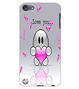 APPLE IPOD TOUCH 5 LOVE YOU Back Cover by PRINTSWAG