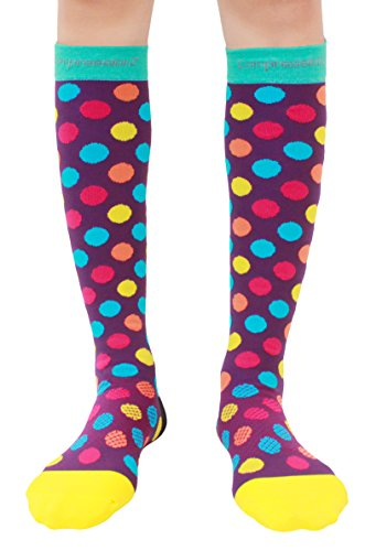 Compression Socks (Urban Dots M/ 20-30mmHg) Men & Women Fun Running Casual Socks
