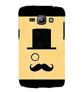 Moustache Uncle 3D Hard Polycarbonate Designer Back Case Cover for Samsung Galaxy J1 2016 :: Samsung Galaxy J1 2016 Duos :: Samsung Galaxy J1 2016 J120F :: Samsung Galaxy Express 3 J120A :: Samsung Galaxy J1 2016 J120H J120M J120M J120T