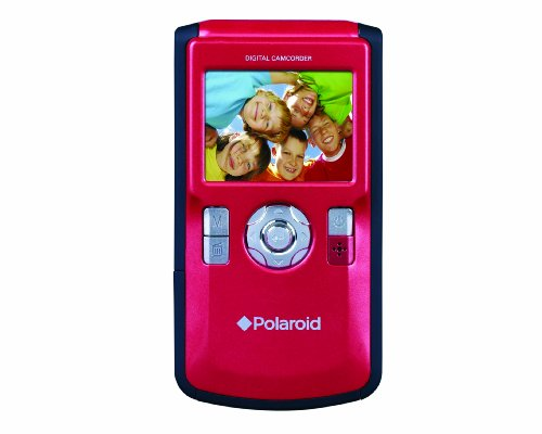 Polaroid DVF-130RC USB Digital Camcorder with 2.0-Inch LCD Display (Red)