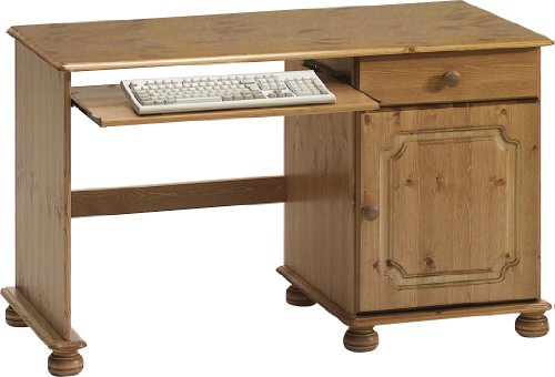 Steens Single Pedestal Pine Desk