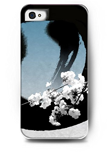 Ouo Stylish Series Case For Iphone 4 4S 4G With The Design Of Lovely White Peach Blossom