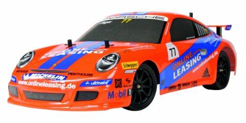 Imagen principal de Dickie-Spielzeug 201119365  - RC Porsche 911 GT3, 2-canal de control de radio, 27 MHz, escala 1:10, naranja / azul