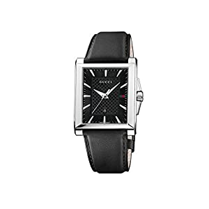 Gucci Men's YA138404 Gucci G-Timeless Rectangle Analog Display Swiss Quartz Silver Watch