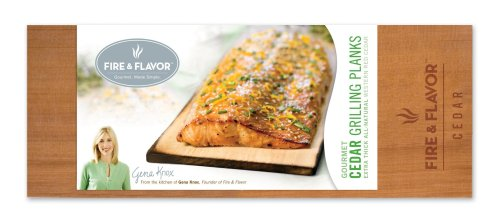 FIRE & FLAVOR Gourmet Grilling Planks, Cedar, 2-Count Packages (Pack of 3)