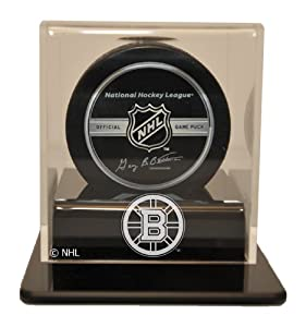 NHL Boston Bruins Single Hockey Puck Display Case by Caseworks