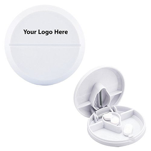 Compact Pill Cutter/Dispenser - 250 Quantity - $1.45 Each - PROMOTIONAL PRODUCT / BULK / BRANDED with YOUR LOGO / CUSTOMIZED (First Aide Container compare prices)