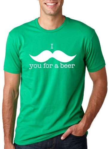 I Mustache You For A Beer T Shirt Funny St Patricks Day Shirt L