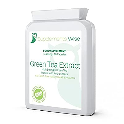Green Tea Diet Capsules 90 x 12480mg | HIGH STRENGTH Extract With Benefits For Weight Loss | Fat Burner Supplement High In Antioxidants from Supplements Wise