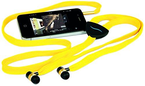 Hi-Fun Hfhistring-Ylw Hi-String Shoe-Lace Earbuds - Retail Packaging - Yellow