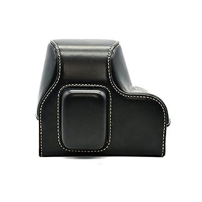 Clanmou Digital Camera Bag NX 500 Black Leather Camera Case Bag for Samsung NX500 with 16-50mm DSLR Camera Accessory