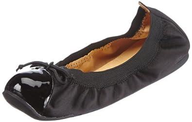 Buffalo London 210-2203P SILK PATENT PU, Damen Geschlossene Ballerinas, Schwarz (BLACK 19), 36 EU