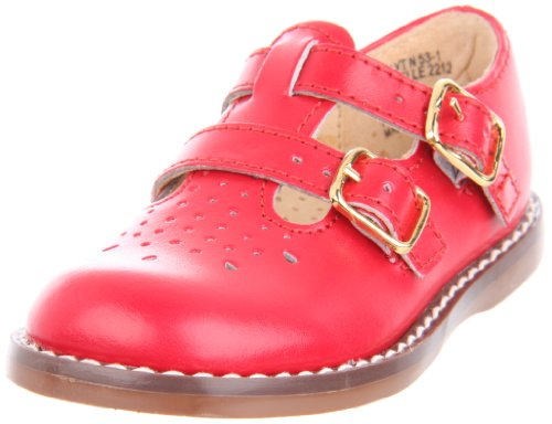 Footmates 2212,Apple Red Smooth,9.5 M Us Toddler front-923436