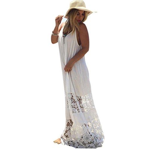 XILALU Sexy Women Summer Casual Lace Long Maxi Evening Party Beach Dress (XL)