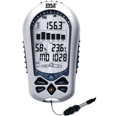Pyle Sports Digital Handheld Barometer, Alimeter, Thermometer, Clock by Pyle Sports