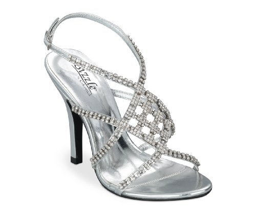 Sizzle by Coloriffics Women's Broadway Sandal,Silver,7.5 M  US