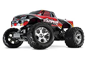Traxxas Stampede: 1/10 Scale Monster Truck with TQ 2.4GHz Radio System Vehicle, Red