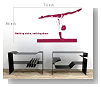 Large--Easy instant decoration wall sticker wall mural Sport boy girl adault room decal SPS147 gym gymnastic
