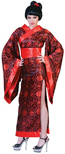 Funny Fashions Womens Asian Kim Kimono Geisha Japanese Robe Adults Fancy Costume