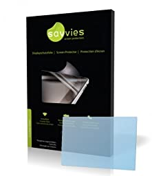 Savvies Crystalclear Screen Protector for Panasonic Lumix DMC-GF2, Protective Film, 100% fits, Display Protection Film