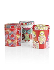 Bohemian Owl Tea, Coffee & Sugar Jar Set