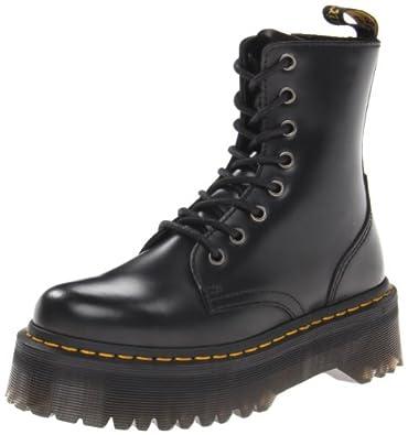 Dr. Martens Women's Jadon Boot,Black Polished Smooth,3 UK/5 M US