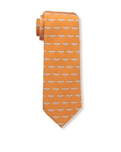 J. McLaughlin Men's Kitty Hawk Tie, Marigold/Light Blue