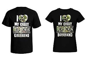 Couple T-shirt - I Love my Crazy Redneck Girlfriend & Boyfriend