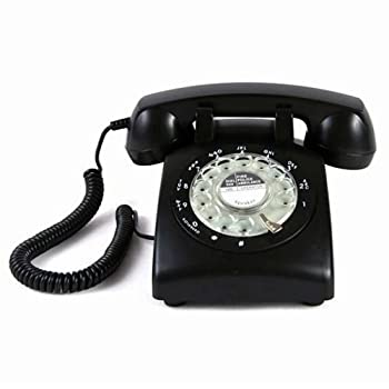 Black Color Vintage 1970's STYLE ROTARY Retro old fashioned Rotary Dial Home Telephone