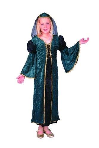 Child's Green Deluxe Juliet Costume Size Large (12-14)