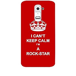 Skin4gadgets I CAN'T KEEP CALM I'm A ROCK-STAR - Colour - Red Phone Skin for LG G2