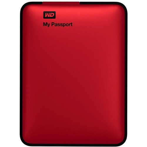 WD+My+Passport+2TB+Portable+External+Hard+Drive+Storage%2C+Red【並行輸入】