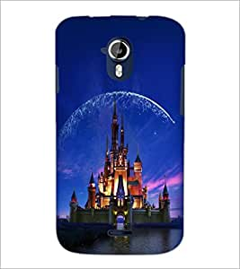 PrintDhaba Disney Castle D-2424 Back Case Cover for MICROMAX A116 CANVAS HD (Multi-Coloured)