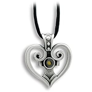 Heart/Cross and Mustard Seed Pendant - Faith Moves Mountains - 22 inch Black Cord