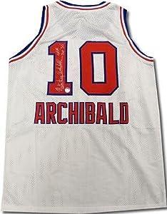 Nate Archibald Autographed Jersey - Sacramento Kings Top 50 + COA - Autographed NBA... by Sports+Memorabilia