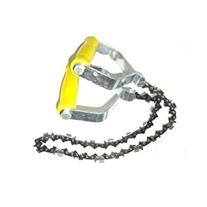 S/ägekette 70cm 18 extrem scharfe Z/ähne Hand Kettens/äge mit Metallgriffe