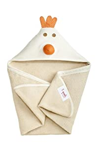 Personalized 3 Sprouts Hooded Towels (Cream Chicken)