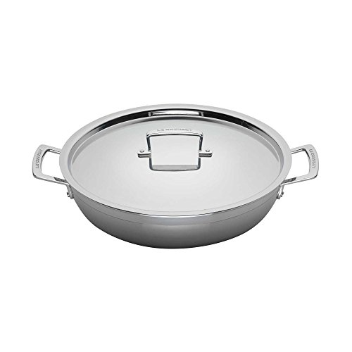Le Creuset Tri-Ply Stainless Steel 5-Quart Covered Braiser