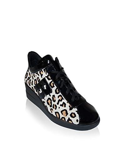 Ruco Line Keil Sneaker 200 Africa Maculato S naturweiß/schwarz