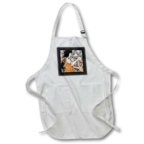 apr_163569_1 Florene Art Deco and Nouveau - Image of nouveau lady picking apples - Aprons - Full Length Apron with Pockets 22w x 30l