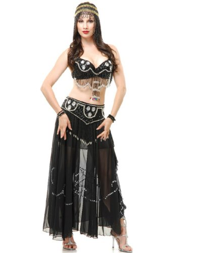 Unknown Women's Arabian Jeweled Beaded Belle Dancer Costume