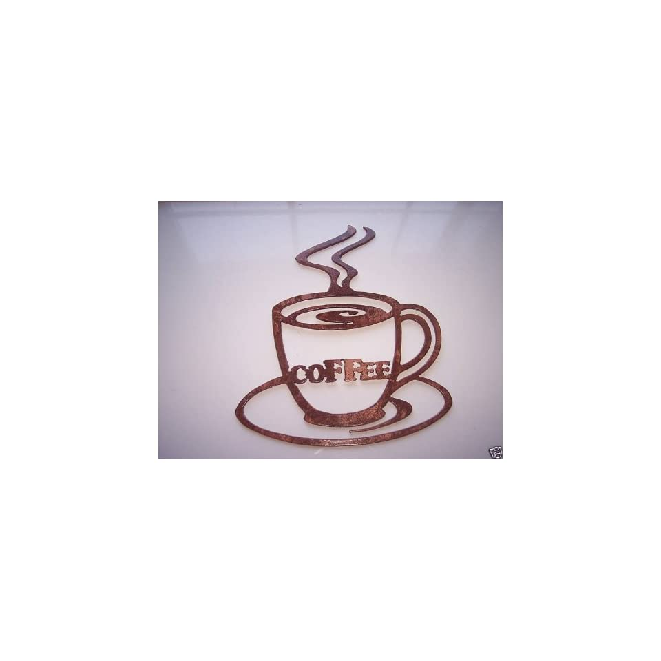Good Morning Coffee Cups Kitchen Decor Metal Wall Art On