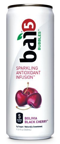 Bai5 Bubbles Sparkling Antioxidant Infusion, Bolivia Black Cherry,11.5 Fl Oz (24 Count)