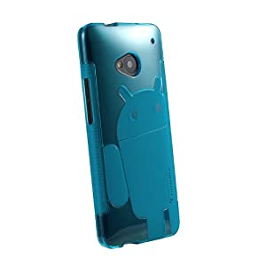Cruzerlite Androidified A2 TPU Case for HTC One - Retail Packaging - Teal
