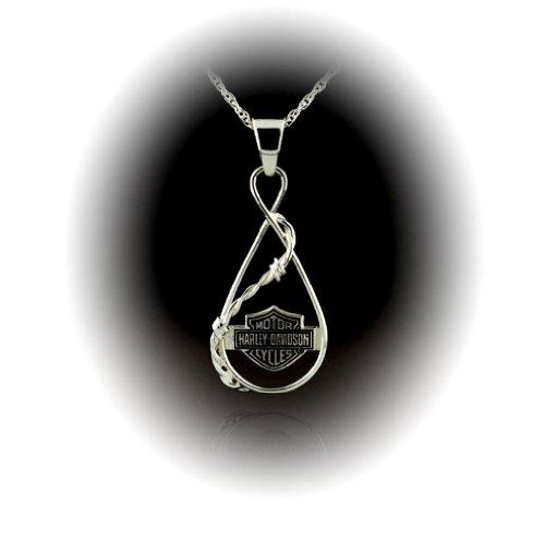 Harley-Davidson® Stamper® Women's Sterling Silver Necklace. HN7462