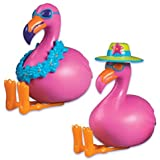 Oasis Supply Assorted Colors Cupcake/Cake Decorating Toppers, 2-1/4-Inch, Flamingo Adornments, Set of 2