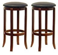 Winsome Wood 30-Inch Black PVC Seat W…