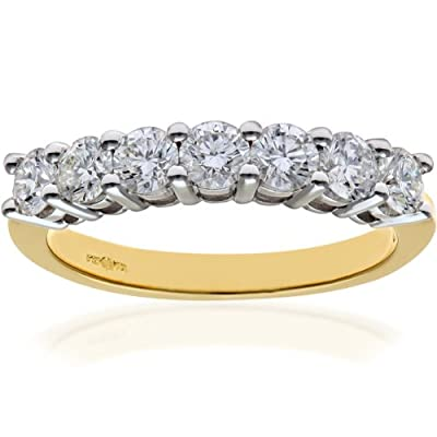 Naava 18ct Eternity Ring, IJ/I Certified Diamonds, Round Brilliant, 1.00ct