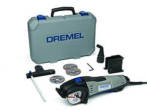 Dremel coffret tronçonnage DSM20 JA avec mini-scie circulaire DSM20, coffret robuste et 4 disques à tronçonner F013SM20JA