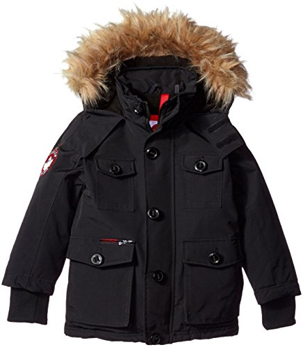 Canada Weather Gear Big Boys' Heavyweight Hooded Jacket, Cow Parka Black, 8 (Canada Winter Jacket compare prices)